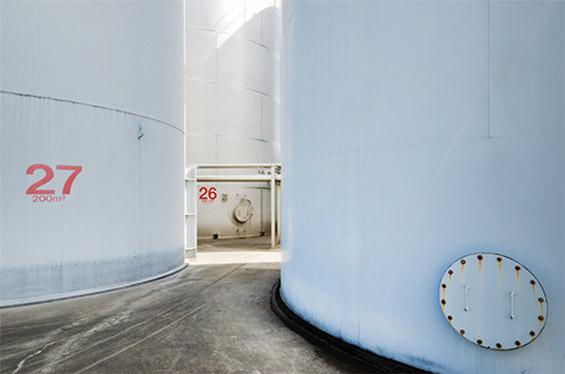 Een detail foto van onze silos